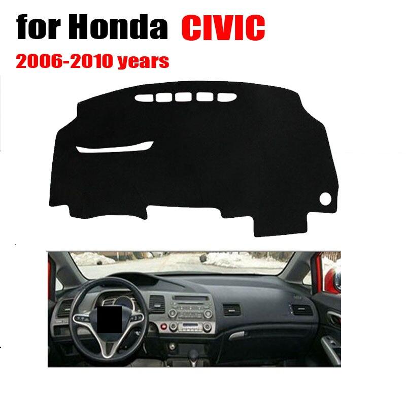 RKCA adesivos tampa do painel do carro tapetes Personalizados fit Para Honda Civic 2006-2010 Evite luz pad plataforma Instrumento mesa mat pad