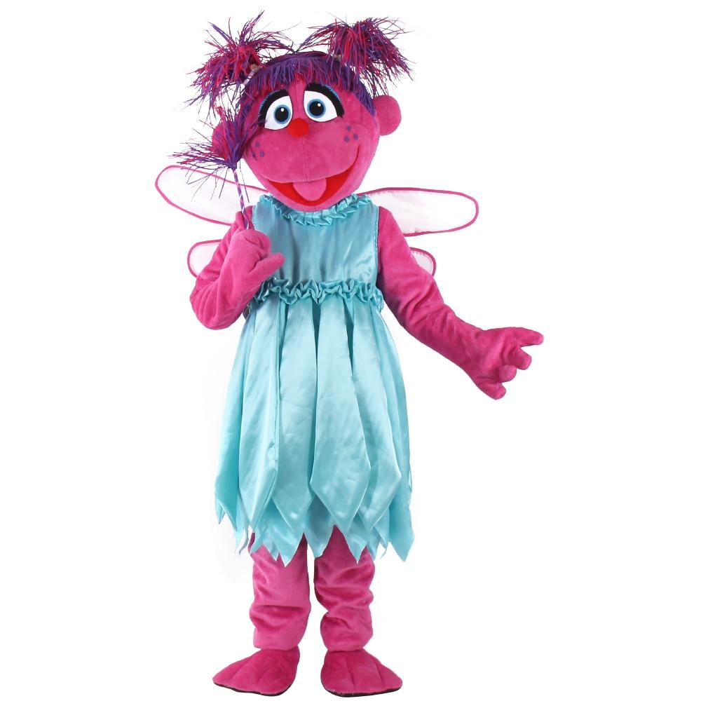 Abby mascote traje sésamo rua abby cadabby mascote cosplay traje elmo frete grátis