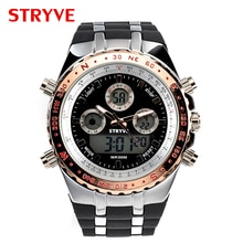 Montre Homme Stryve S8002 Sports Watches Army Military Heavy Dial Alarm Led Analog Clock Luxury Stry