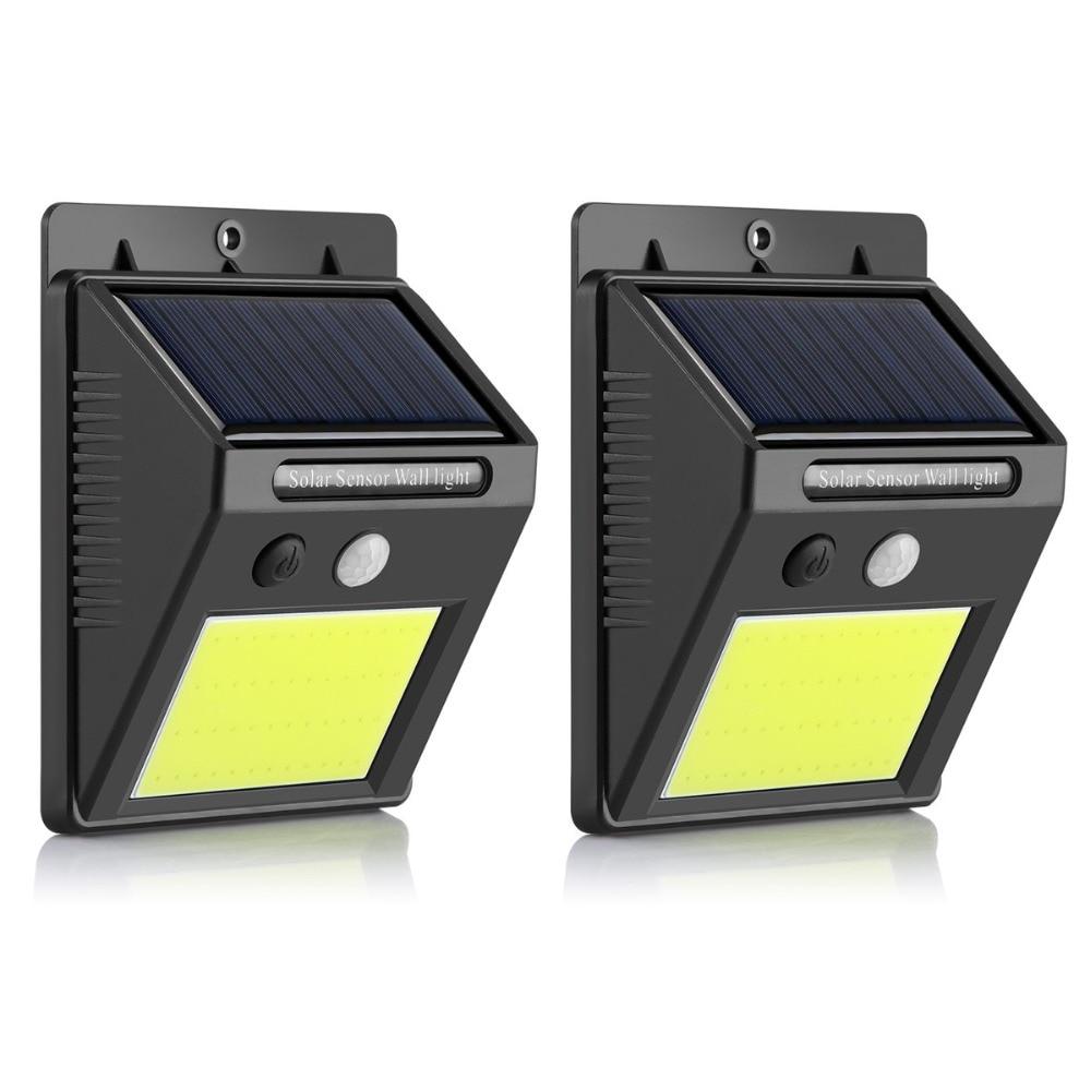 Solar Garden Light Motion Sensor Waterproof COB 48leds Solar Lamp Security Night Light Outdoor Patio Yard Driveway Wall Light