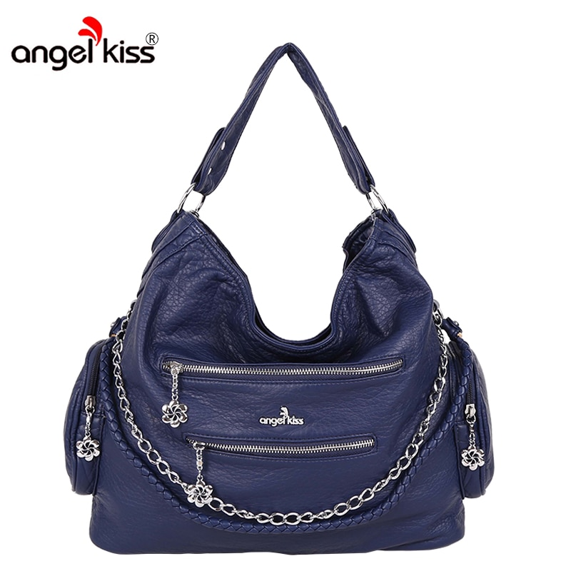 Angelkiss designer de moda feminina bolsa feminina sacos de couro do plutônio bolsas senhoras saco de ombro portátil escritório senhoras hobos saco para
