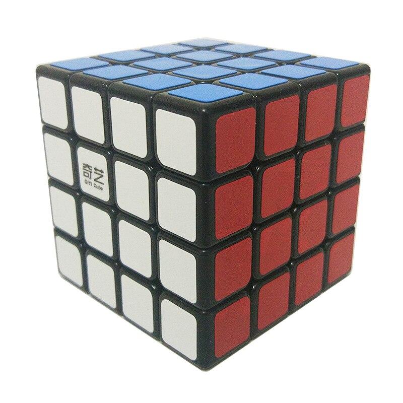 QiYi QiYuan cubo mágico 4X4X4 Cubo de velocidad profesional para principiantes 4 capas pegatinas rompecabezas cubo niños juguete mágico Cubo educativo