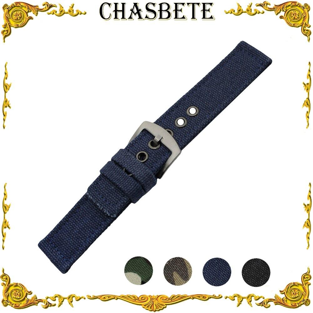 22mm Nylon Assista Banda para LG G Assista W100/R W110/urbano W150 Tecido Nato Strap relógio de Pulso Pulseira Cinto de Laço Azul Preto + Pin