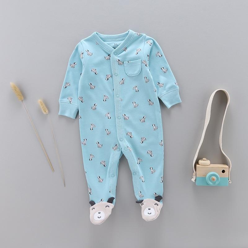 2019 primavera y otoño bebé 100% de algodón pelele recién nacido onesie niña Niño de manga larga onesie pijamas niños ropa