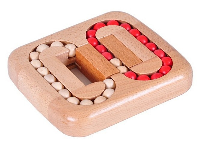 Test Wooden Beads Puzzle Brain Teaser Beech Wood Game Toys for Adults Children