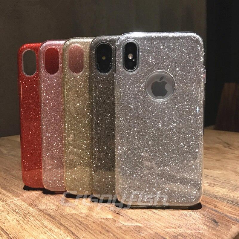 Funda de TPU suave transparente brillante de Crispyfish para iPhone 7 8 Plus, funda de silicona para iPhone 6 6s X XS XR XS MAX