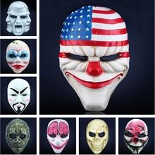 Dallas Hoxton łańcuchy wilk Clown Robber Obama Vespula V dla Vendetta Payday 2 maski repliki kostiumy rekwizyty dla Cosplay Masquerade