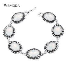 Wbmqda luxe mode Antique argent cristal montre bracelets pour femme bracelet à breloques montres bijoux de mode 2018 nouveau