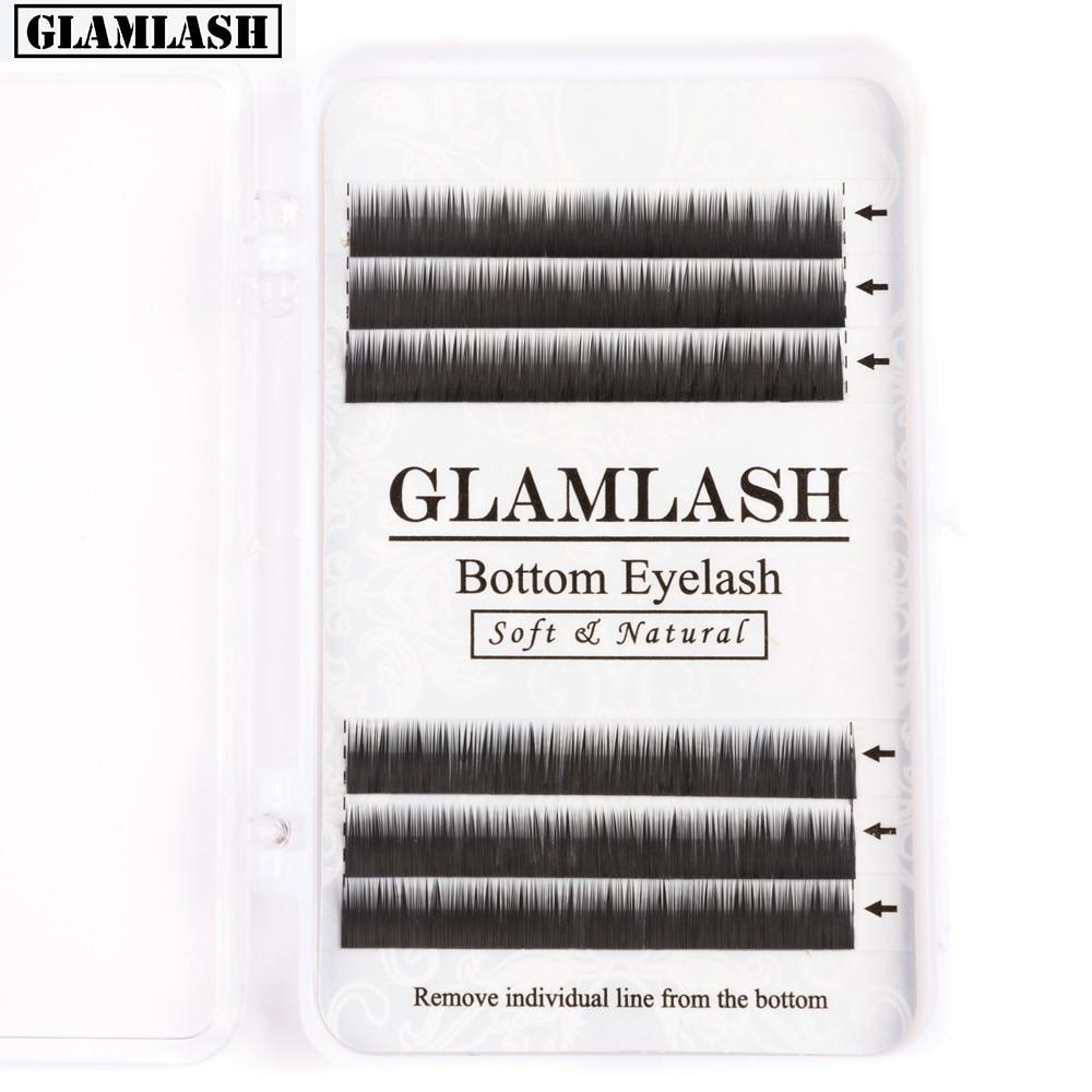 Glamlash j curl 0.10 espessura sobrancelha cílios extensão inferior cílios maquiagem