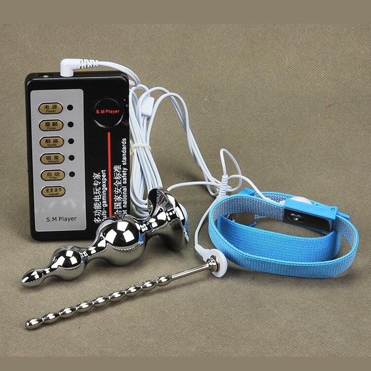 Electrico choque fisioterapia juguetes sexuales Acero inoxidable uretral sonido aleación anal enchufe...