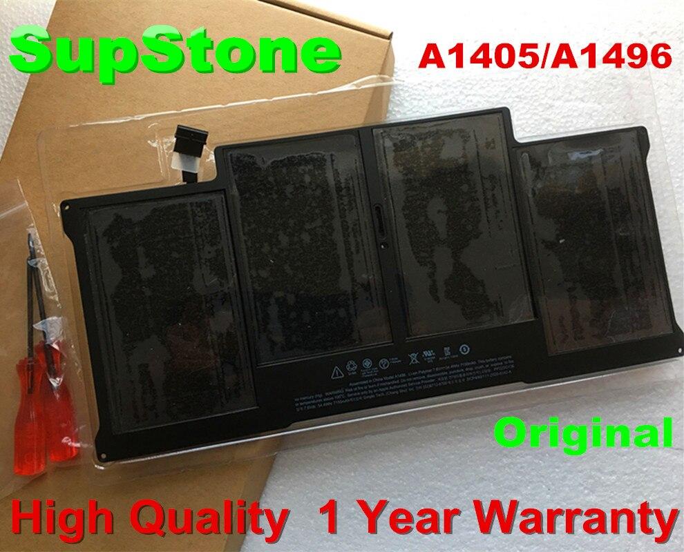 "SupStone Подлинная A1496 батарея для Apple Macbook Air 13 ""A1466 ноутбука A1405 A1377 Оригинальная батарея"
