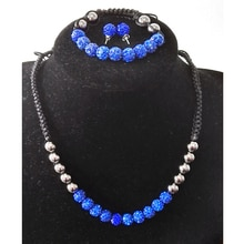 Shamballa ensembles de bijoux en gros 10mm Disco Ball strass Shamballa collier/Bracelet/boucles doreilles ensemble de bijoux