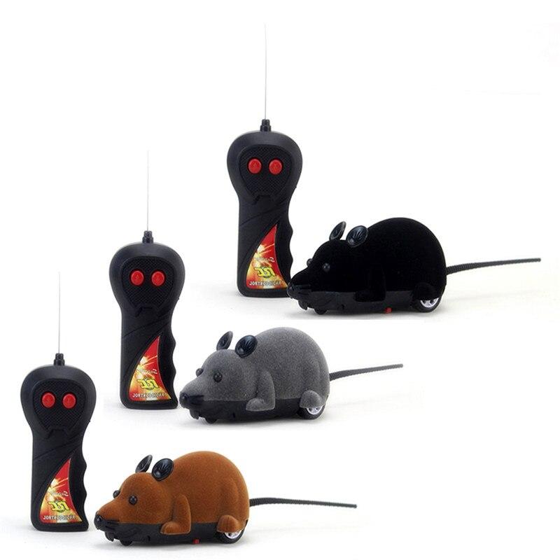 Забавный беспроводной пульт дистанционного управления RC игрушка крыса, мышь кошка щенок взаимодействие смешная игрушка