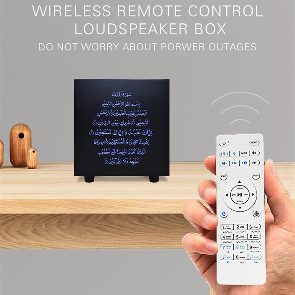 Lámpara táctil Quran altavoz inalámbrico Bluetooth Control remoto colorido LED luz nocturna musulmán Corán Reciter FM TF MP3 lámpara de música