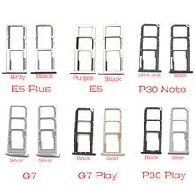 New For Motorola Moto G7 Play One Power P30 Note E5 Plus Sim Card Slot Socket Holder Flex Cable