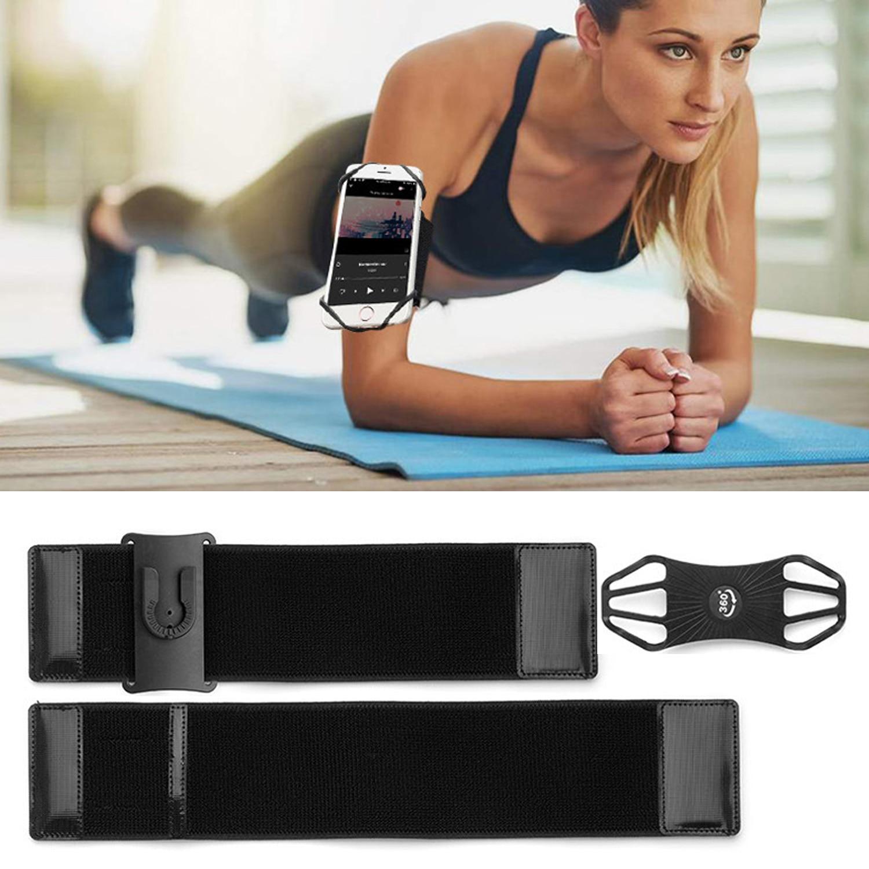 360 grados ajustable celda extraíble teléfono titular brazalete deportes Running teléfono móvil banda de brazo para teléfonos inteligentes de 4-6,5 pulgadas
