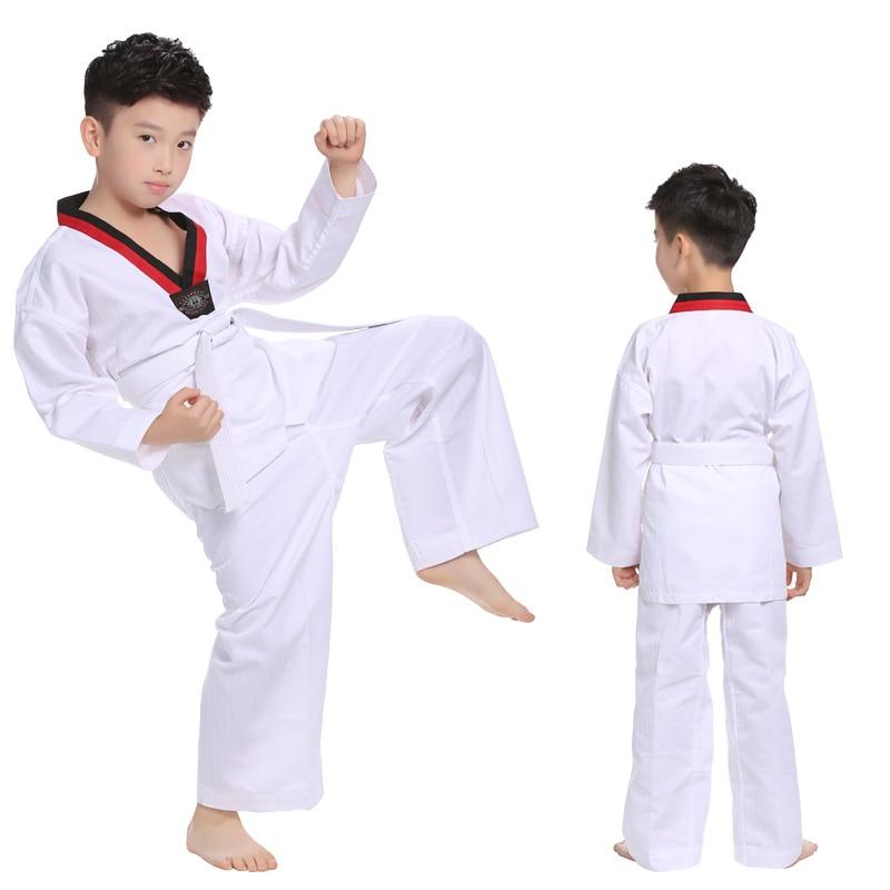 white taekwondo uniforms wtf karate judo taekwondo dobok clothes children adult unisex long sleeve tkd clothing White Taekwondo Uniforms WTF Karate Judo Taekwondo Dobok Clothes Children Adult Unisex Long Sleeve TKD Clothing