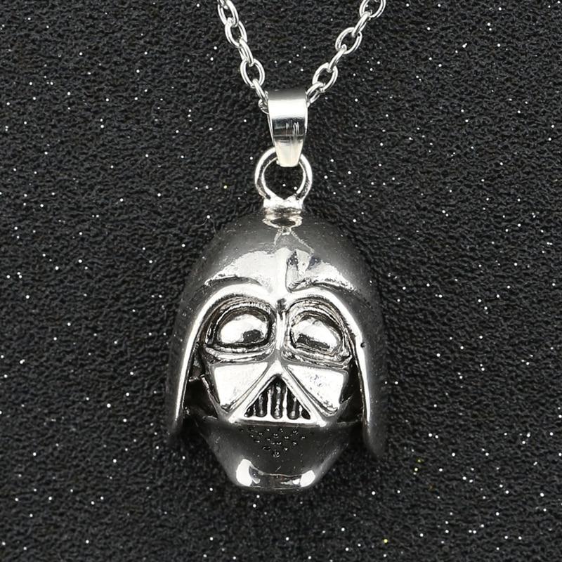Estrella collar de guerra Darth Vader señor oscuro Anakin Skywalker casco Vintage...