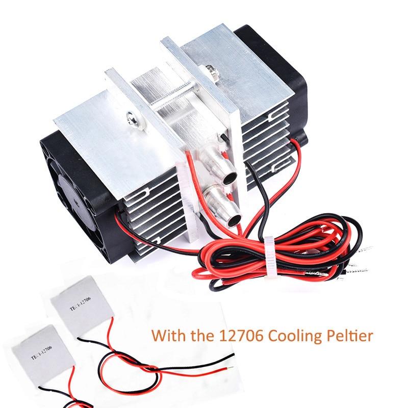 Полупроводниковый Холодильный комплект чипов Diy холодильник небольшой кондиционер с водяным охлаждением 12 В Чиллер с 2 шт 12706 Пельтье