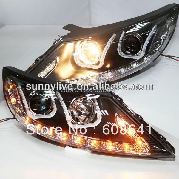 For KIA Sportage R Angel Eyes LED Head Lamp 2011 U type
