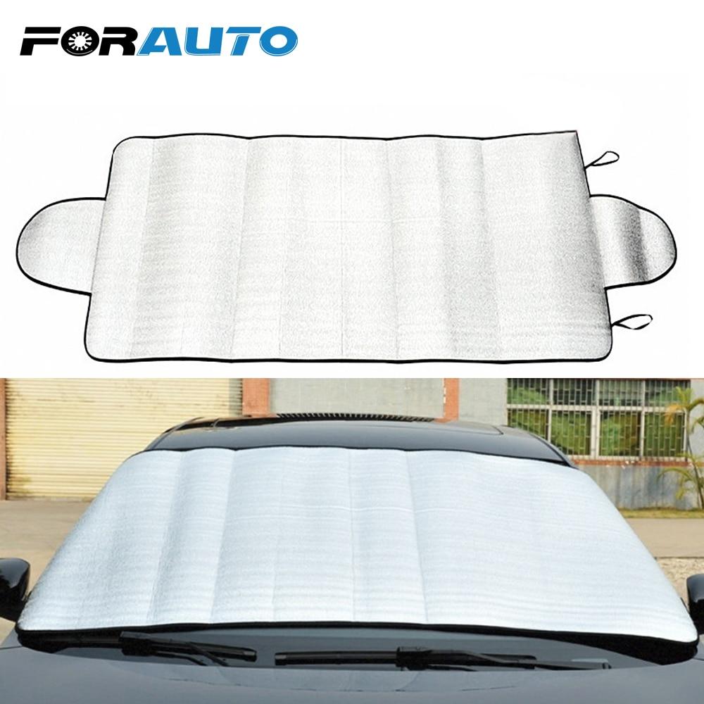 FORAUTO voiture pare-brise pare-brise pare-brise Film soleil réfléchissant ombre pliable UV protéger voiture style Durable