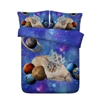 duvet cover 3d cat bedding set luxury cotton bed sheet crown bed in a bag linen california king queen size twin full double 4pcs