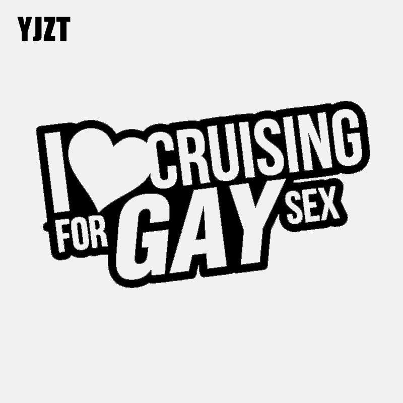 YJZT 15,7 см * 8 см веселый, я люблю Круизный Спорт для геев, стикер на окно автомобиля, наклейка, черный, серебристый, виниловый C11-1490