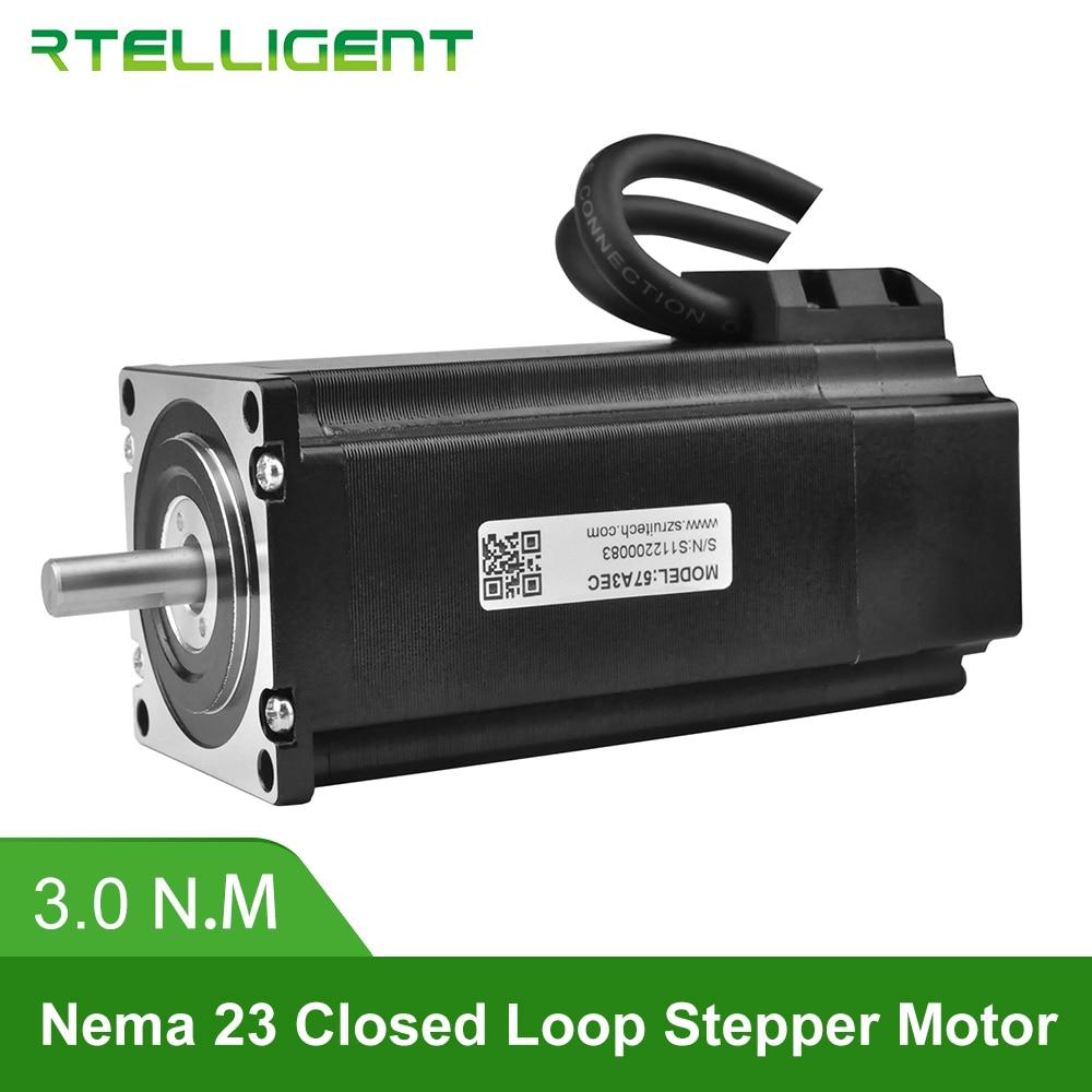 Rtelligent Nema 23 57A3EC 3.0N. M 4.0A 2 фазы Hybird ЧПУ замкнутый контур шаговый двигатель легкий сервопривод шаг-сервопривод с кодером