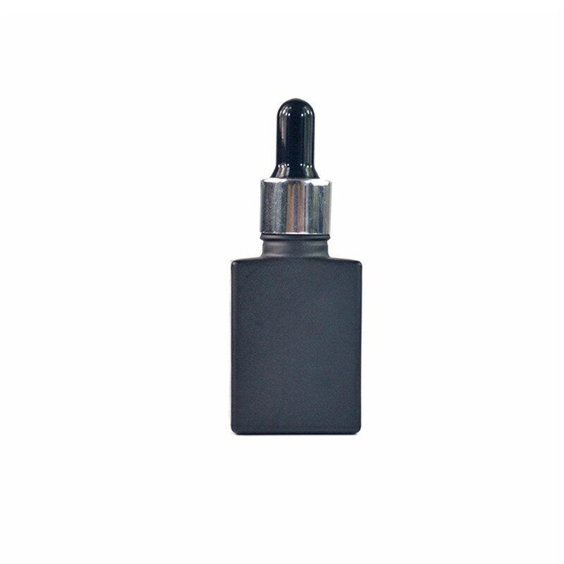 500 قطعة 15 مللي فارغة الصقيع أسود مربع الزجاجات مع الألومنيوم كاب الزجاج بالقطارة زجاجة E-السائل مستطيل زجاجة