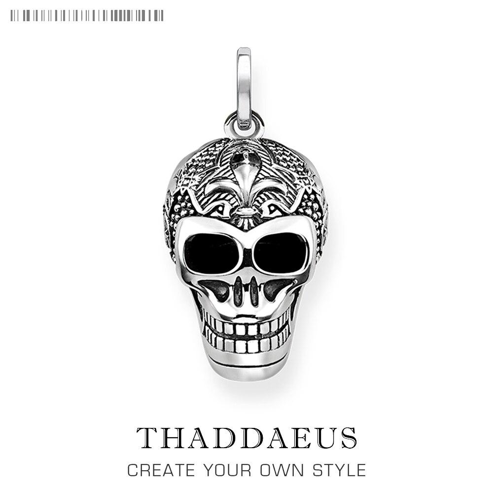 Pendant Skull Skeleton,2019 Winter Fashion Jewelry Thomas Bijoux 925 Sterling Silver Accessories Gift For Ts Woman Rebel Men