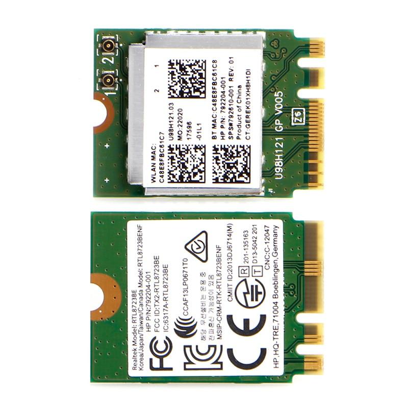 Tableta-Mini WIFI inalámbrico RTL8723BE 792204-001 interfaz de tarjeta NGFF para HP DELL Asus
