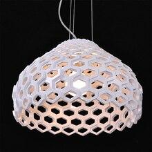 Blanc/noir moderne acrylique pendentif lumières salle à manger Suspension Luminaire mode barre escalier décoratif pendentif luminaires