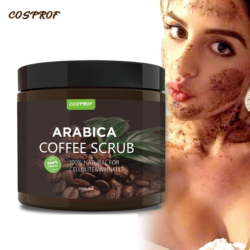 Coffee Scrub Body Scrub Cream Facial  Dead Sea Salt For Exfoliating Whitening Moisturizing Anti Cellulite Treatment Acne недорого