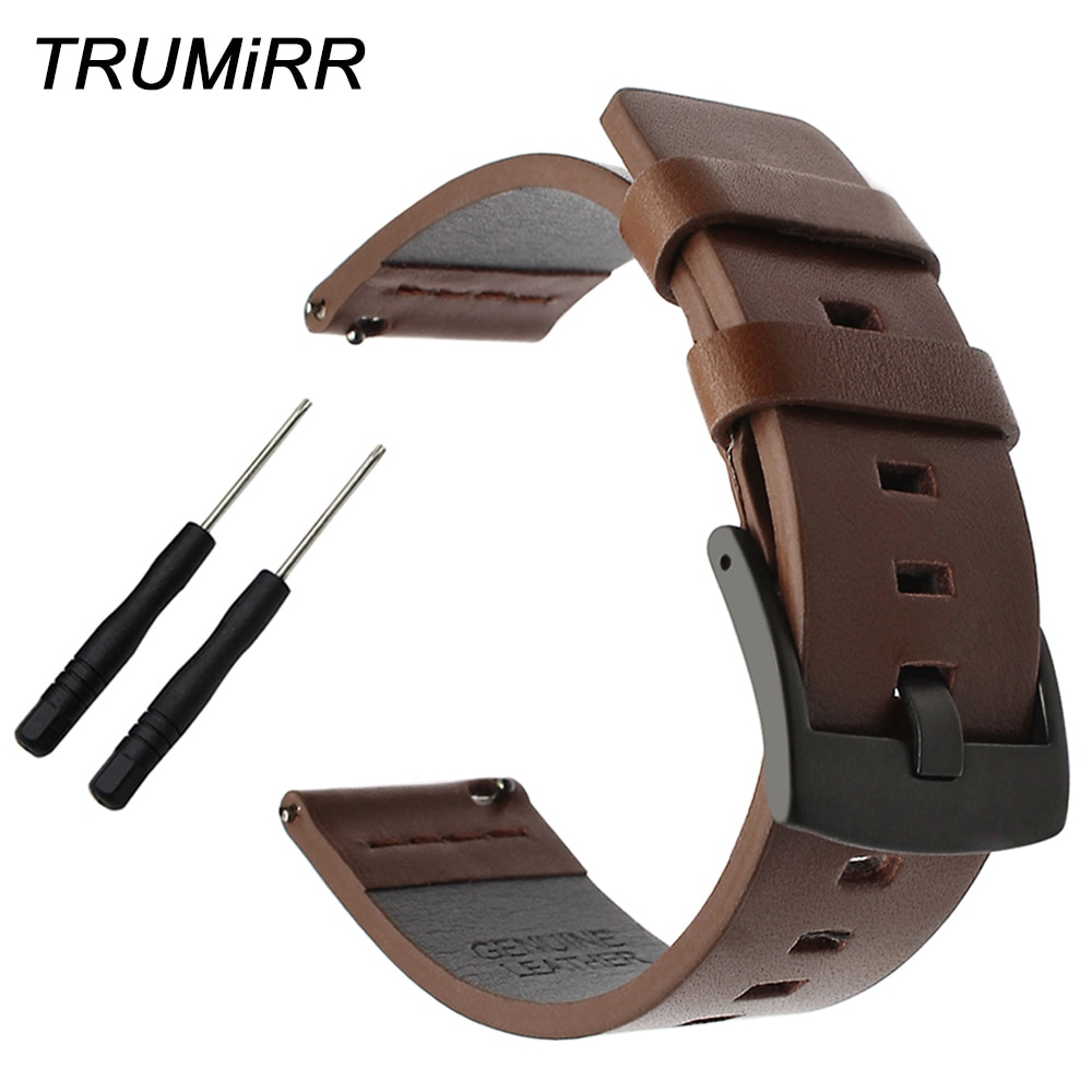 Ремешок для часов из масляной кожи, ремешок для часов 20/22/24 мм для Garmin Fenix 5S/5/Vivoactive HR/Forerunner 935 (FR935)/Epix