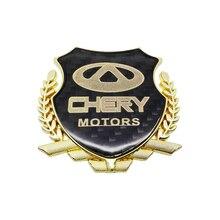 3D Metall Auto Aufkleber Emblem Abzeichen Aufkleber Auto Styling Für Chery E3 eQ X1 QQ3EV 3X E5 A1 V5 ARRIZO 3 5 7 A3 Tiggo 3 5 7 E3 A5 QQ