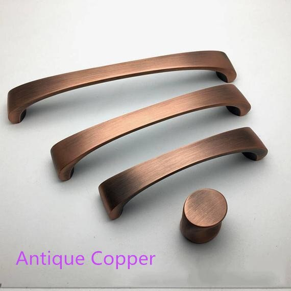 "3.75"" 5'' 6.3'' Antique Copper Bronze Drawer Pulls Knobs Black Dresser Handle Brushed Nickel Kitchen Cabinet Door Handles Knob"