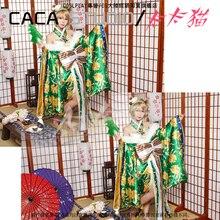 2017 Love Live Koizumi Hanayo robe eveil jour Cosplay Costume vert hiver Kimono livraison gratuite D