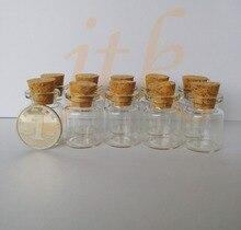 Wholesale 200 pcs 22*30mm 5ml small glass vials with cork tops bottles Little empty jars