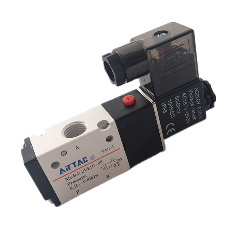 Бесплатная доставка 3V210-08 Пневматический электромагнитный клапан 2/3way 1/4