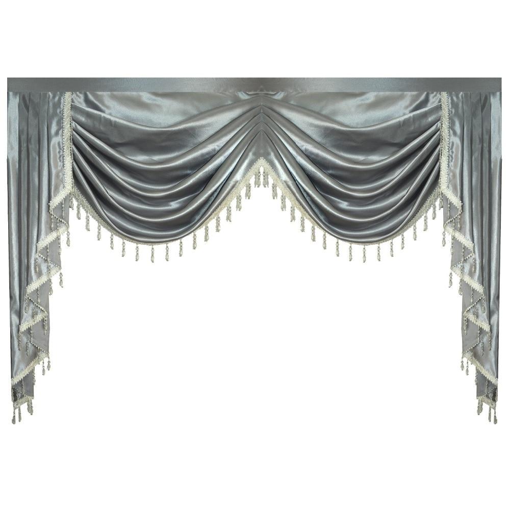 Занавес Valance Swag Lambrequin для гостиной столовой спальни роскошный стиль окна Swag Европейский королевский стиль