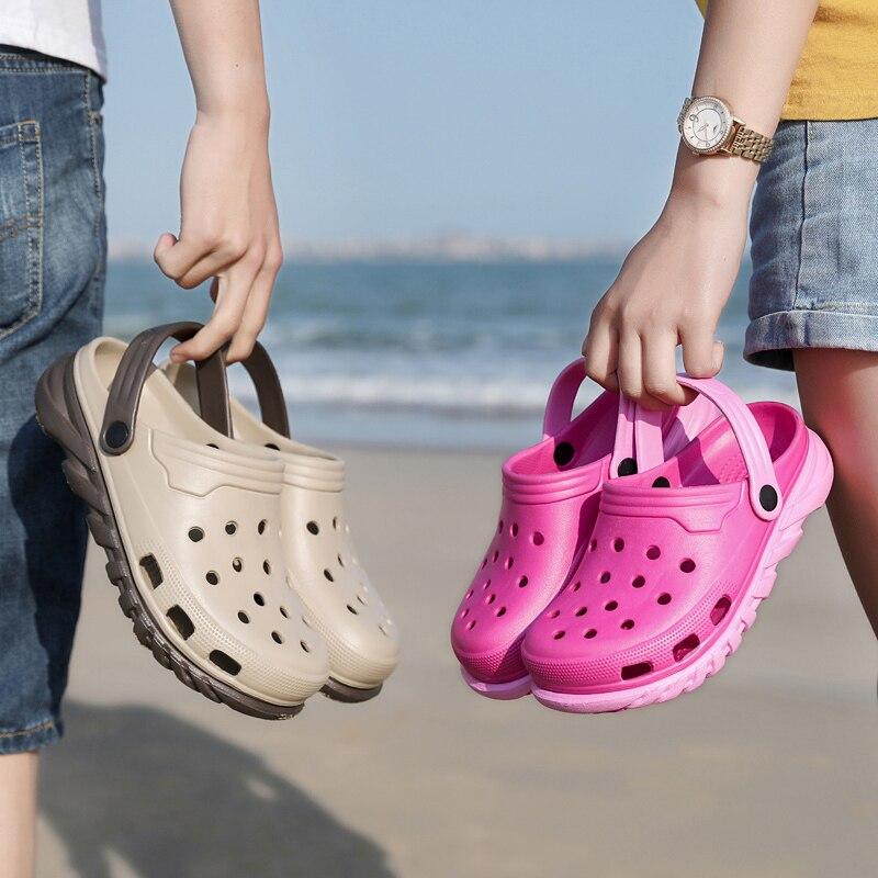 Mulheres Croc Sapatos Buraco Sapatos de Praia Homens Sapatos Leves Sandálias Chinelos Casa de Verão Ao Ar Livre Vadear Sapatos Tênis de Lazer