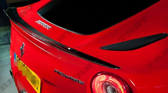 Apto para Farreri F12 Berlinetta de fibra de carbono spoiler trasero ala trasera