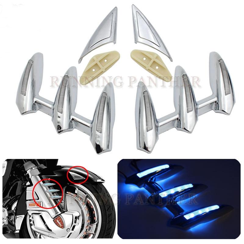 Cubiertas de choque del Rotor del freno de la motocicleta anillo LED de fuego para Honda GOLDWING GL1800 2001-2011 2010 2009 2008 2007 2006 2005 2004
