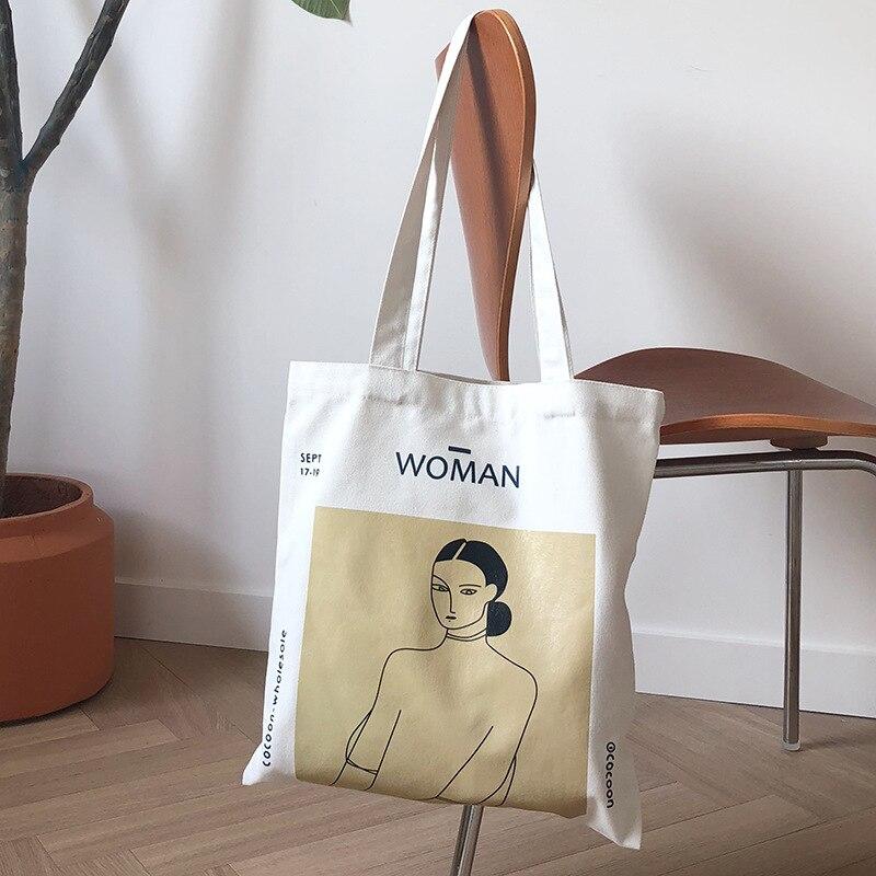 Youda, Original, Simple, bolso para mujer, bolsos de lona elegantes, bolsos de hombro a la moda para mujer, bolso de compras Casual, bolso bonito para chicas