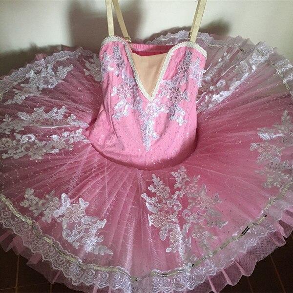 2017 criança ballet vestido de ginástica collant ballet tutus feminino trajes de balé profissional meninas branco lago cisne vestido de princesa