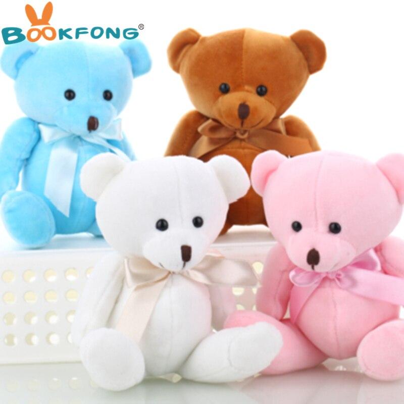 Милый плюшевый медведь BOOKFONG, плюшевые игрушки, маленькие куклы, медведи для свадьбы, мультяшный цветок, детская игрушка, рекламные подарки, 15 см