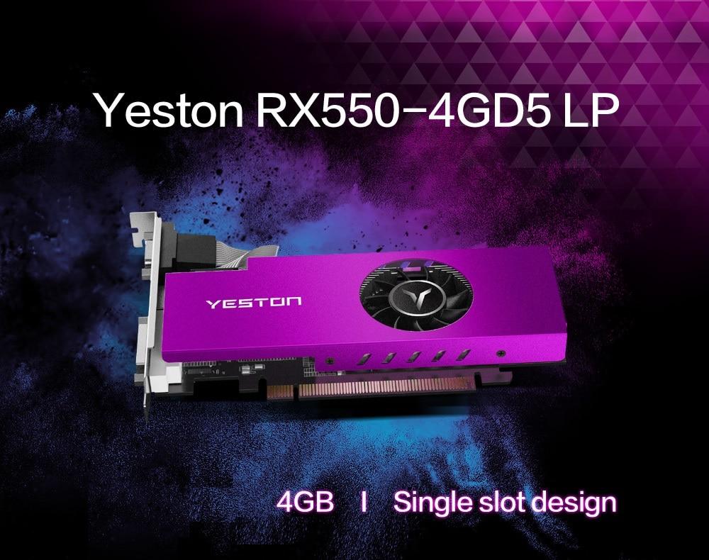 Yeston Radeon Mini Rx 550 Gpu 4gb Gddr5 128bit Gaming Desktop Computer Pc Video Graphics Cards Support Vga Dvi D Hdmi Compatible Graphics Cards Aliexpress