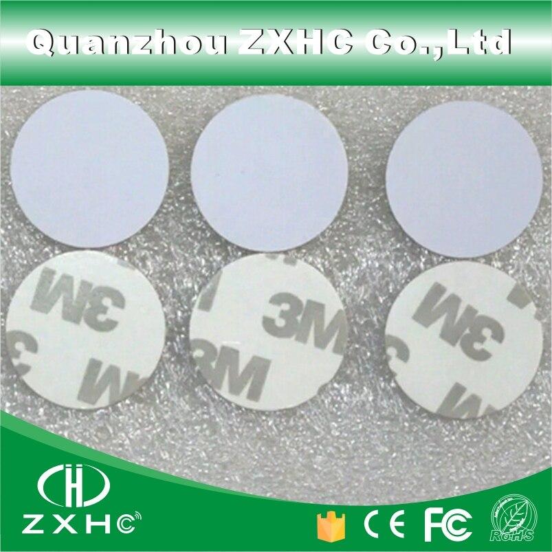 (10 шт.) rfid-этикетка 125 кГц 25 мм T5577, перезаписываемая клейкая этикетка для монет, этикетка для копии, круглая форма, материал ПВХ