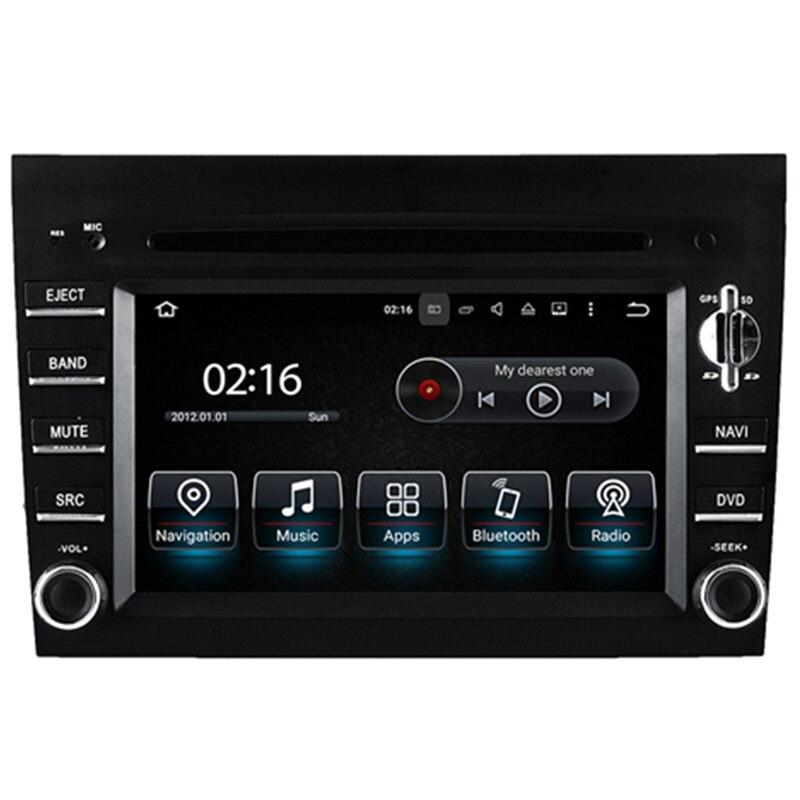"""6.2 """"Android Stereo Car Multimedia Navegação GPS Unidade de Cabeça DVD Radio Audio Sat Nav para Porsche Boxster Cayman 911 997 2005 2006"""