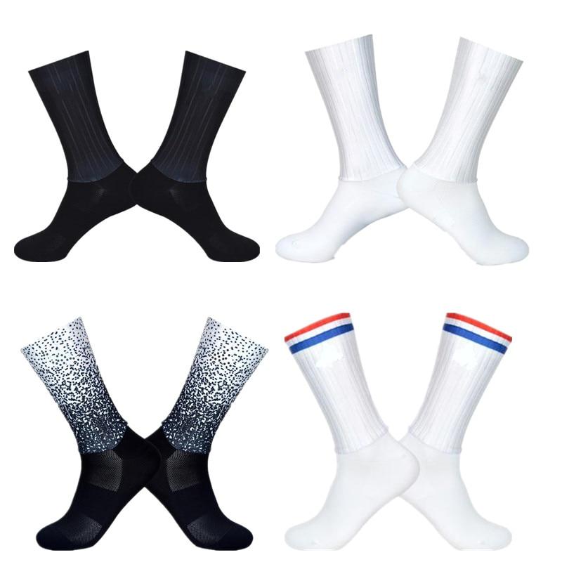 New Summer Breathable Cycling Socks Men Anti Slip Seamless Aero Bike Wearproof Road Calcetines Ciclismo